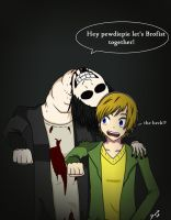 The Crooked Man And Pewdiepie Brofist by 1haku7