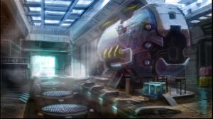 Europa Facility Interior Environment Concept by xvortexbladex