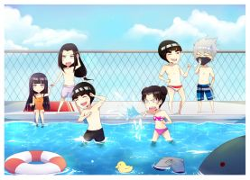 Team Gai (pool day) by CodeHeaven