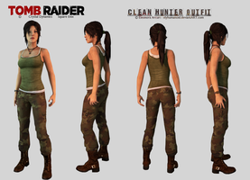Lara Croft - Clean Hunter Outfit Download by elyhumanoid