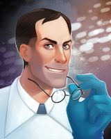 TF2: Medic portrait by ShinySoul