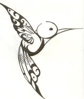 Humming Bird--Scan by Hanaakari