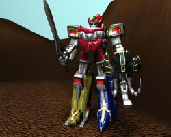 Mighty Morphin Megazord by Wewvic