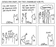 Cataclysm Diary Day Two by uncaringbear