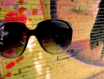 Graffiti wall and sunglasses by juststyleJByKUDAI