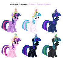 FiM skins: Princess Twilight Sparkle by Pika-Robo