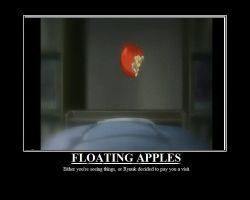 FLOATING APPLES by TheCrazyandInsane