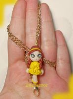 Necklace with Disney Princess Belle by Elfetta2007