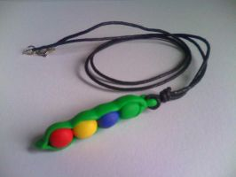 Sprite Stitch Swap Gift - Magic Bean Necklace by Blackmageheart