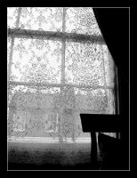 Lace curtain by actress
