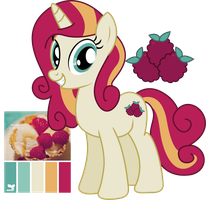 MLP Raspberry Tart Adoptable by JuliefooDesigns