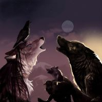 Wolves praying for their race- request by UmjetnikVelikaSrca