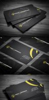 Black - yellow Business Card by calwincalwin