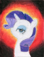 Sultry Rarity - Oil Pastel by BoxedSurprise