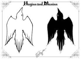 Huginn and Muninn by KashieChan