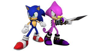 Sonic and Espio Render by TheRiverKruse