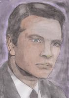 Nikos Kourkoulos (watercolor) by JohnKarnaras