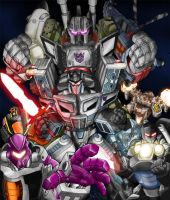 Rid Scourge and the Decepticon by Inker-guy