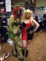 Poison Ivy + Harley Quinn by The-1One