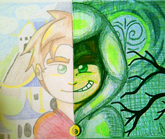 Torn Between Xiaolin and Heylin by amandaluvsu2012
