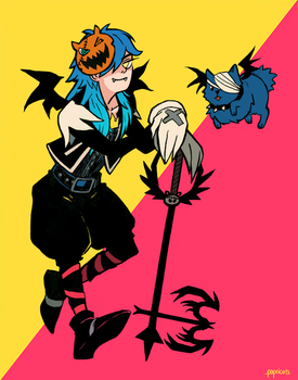 Aoba in Halloween Town by papricots