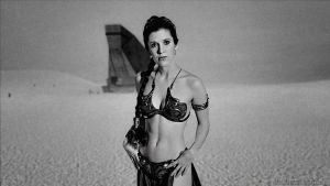 Carrie Fisher Slave Girl Princess VI v2.1 by Dave-Daring