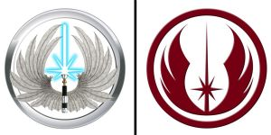 Jedi Order logo comparison by Gardek