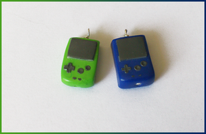 Game Boy color charms by CookingMaru