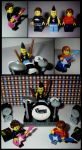 Lego Blink-182 Custom Minifigures by KellysKrafts