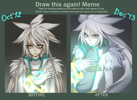 Draw this again! Meme: Silver the Human by SashaVasileva