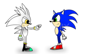AT - Sonic versus Silver (Staring style) by smithandcompanytoons