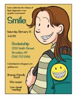 Smile BOOK RELEASE Party Flier by goraina