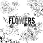 +Flowers Brushes. by ILoveMustache