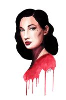 Dita Von Teese by RoofusCreatures