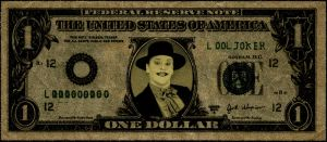 My face on the one dollar bill! (Joker) by AlexanderBQuin