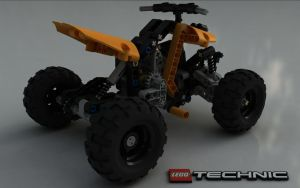 LEGO TECHNIC Quad Bike 9392 III by Dracu-Teufel666