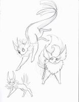 Pokemans in living... pencil by Buuya