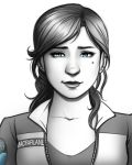 Rachel MacFarlane - Grayscale Portrait by Holly-the-Laing