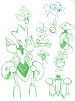Pokemon SXL App SketchDump by evafortuna