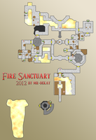 Zelda - Skyward Sword: Fire Sanctuary Map by Mr-DeKay