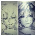 Past n present OC by thumbelin0811