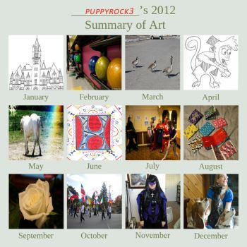 2012 Summary of Art by puppyrock3