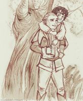 Frodo and Legolas by ImaPencil