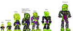 Bionicle Sprite Kit Comparison by JacobLazer
