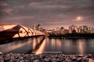 Bow River night scape by Ironwi11
