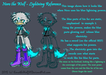 Nero the Wolf- Lightning Reference by KenotheWolf