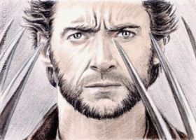 Hugh Jackman miniature by whu-wei
