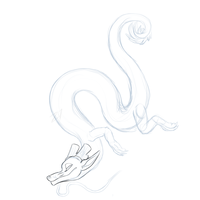 Noodle Dragon [WIP?] by Cinderbutt