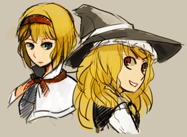 Alice and Marisa by zArisu