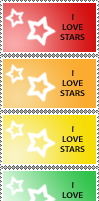 Star Stamp Rainbow by cats-aint-waterproof